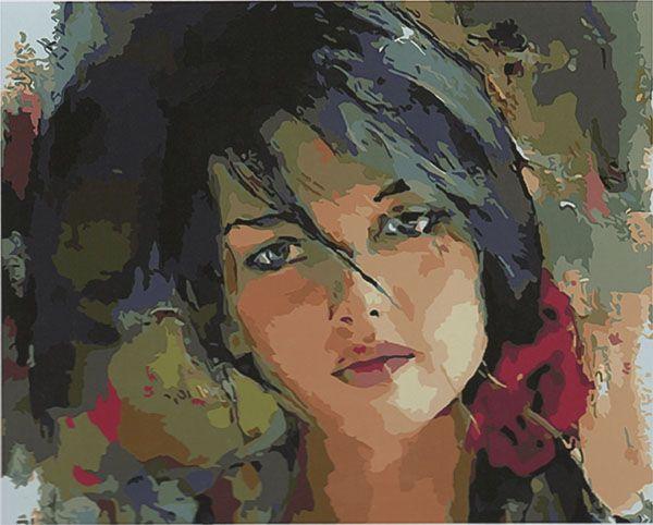 Картина по номерам GX 4098 Милая девушка 40*50 БРЕНД