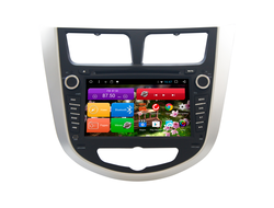 Автомагнитола MegaZvuk T8-7020 Hyundai Solaris I (2010-2016) на Android 8.1 Octa-Core (8 ядeр) 7""