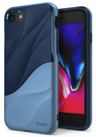 Чехол на Apple iPhone 7 и 8, Ringke серия Wave, цвет синий (Coastal Blue)
