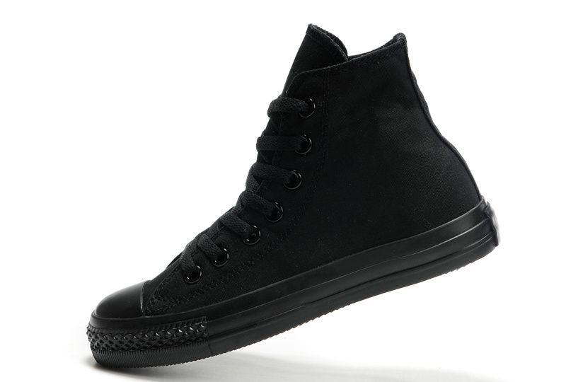 Купить высокие мужские моно-черные кеды Converse All Star в интернет ... c4f842ff8fb