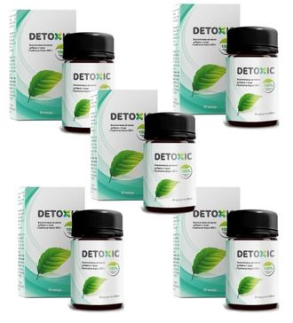 Detoxic biologically active dietary supplement (5 pieces)