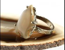 Кольцо Агат, размер 20, 10 г №17679