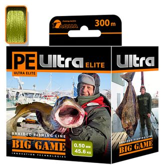 Плетёный шнур PE ULTRA ELITE BIG GAME Olive 0,50 мм 300 м