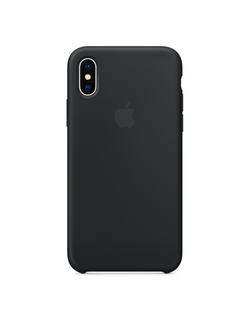 Apple Silicone Case для iPhone X/Xs черный