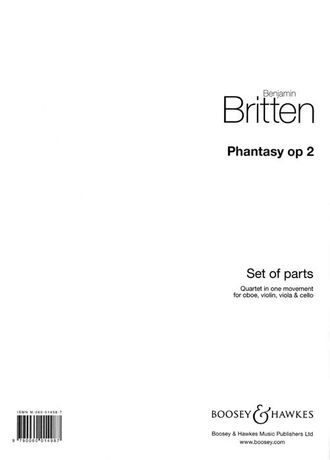 Britten, B: Phantasy op. 2, Quartet in one Movement