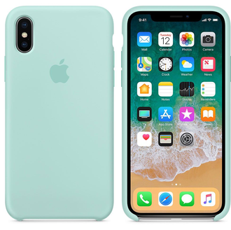 Чехол-накладка Apple Silicone Case iPhone Mint