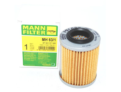 Масляный фильтр MANN-FILTER MH63/1 для BRP Can-Am Outlander 330/400/450/500/570/650/800/1000, Commander 800/1000, Maverick 1000//BRP LYNX/Ski-Doo Skandic/Tundra/Expedition/Legend V-800 // CF MOTO X5 HO/X8 (420256188, 711256188, 0800-011300-0004)