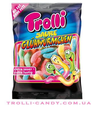 Trolli - Sour Glowworms (100g) 4003084319385