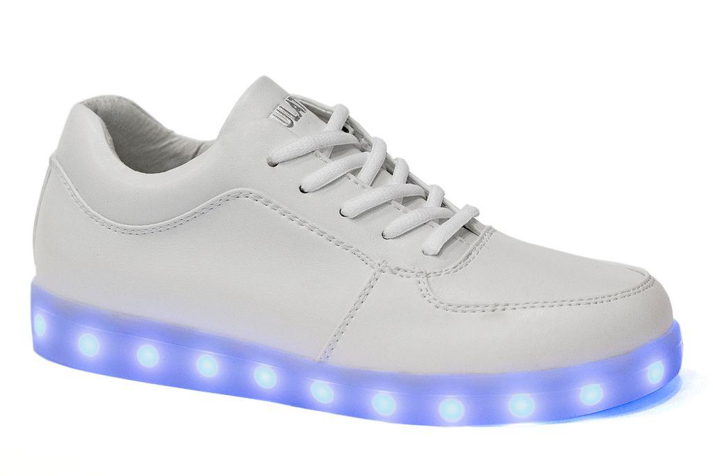 22ba1b4b Светящиеся кроссовки Simulation для девочки или мальчика белые ...