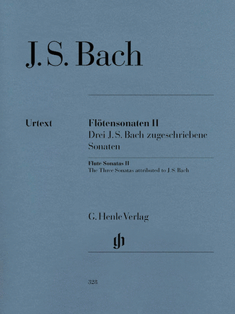 Flute Sonatas - Volume 2 (Three Sonatas attributed to J.S. Bach) - with Violoncello Part