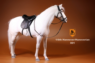 Белый конь - Коллекционная фигурка 1/6 Scale German Hanoverian Warmblood Horse Statue - Real Animal Series (No.17) - Mr.Z