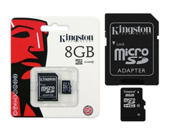 Флешка MicroSD Kingston Class 10 8 GB+ADAPTER
