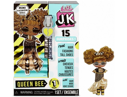 MGA Entertainment Мини Кукла ЛОЛ сюрприз 9 см LOL Surprise! JK Queen Bee Mini Fashion Doll с 15 сюрпризами 570783