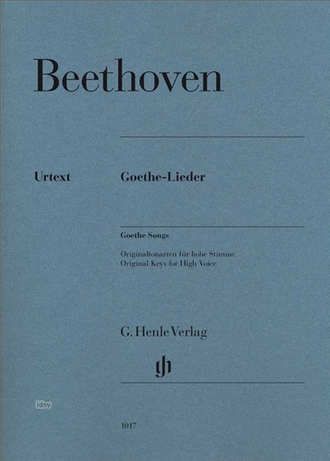 Beethoven Goethe Songs for voice (high) and piano