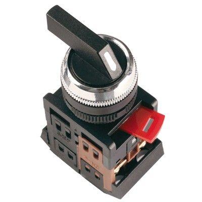 Переключатель ALCLR-22 с фиксацией 3 позиции I-0-II черная длинная ручка