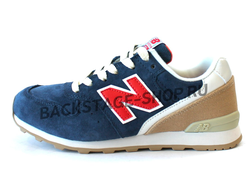 Кроссовки New Balance 996 Blue/Red замша