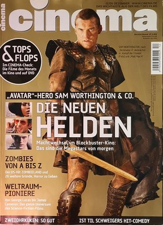 Cinema Magazine November December 2009 Sam Worthington, Иностранные журналы о кино, Intpressshop