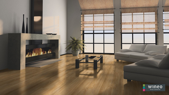 Виниловый пол Wineo 400 Wood Summer Oak Golden DB00118 в интерьере