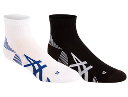 Носки Asics 2PPK Cushioning Sock PERFORMANCE BLACK/BRILLIANT WHITE 3013A238-002 (2 пары) Унисекс