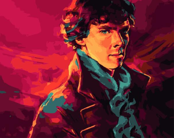 Картина по номерам GX 4966 Шерлок Холмс 40*50