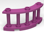 Fence 4 x 4 x 2 Quarter Round Spindled with 3 Studs, Magenta (21229 / 6173072)
