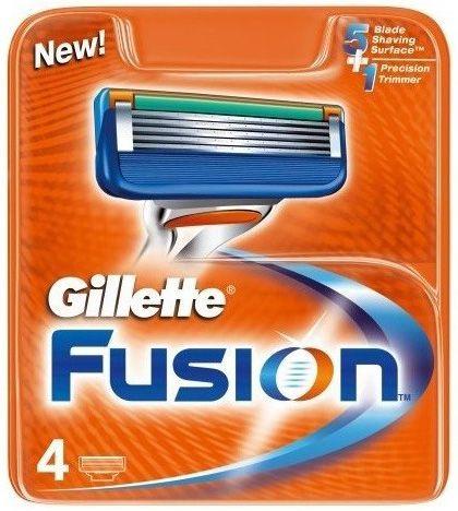 Сменная кассета Gillette Fusion, 4 шт