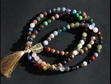 "Четки 108 бусин ""Коллекция"" из натуральных камней (шар 10 мм) №18200"