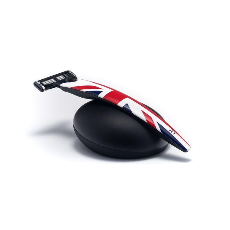 Подарочный набор Bolin Webb R1, бритва R1 Union Jack, Gillette Mach3, подставка R1