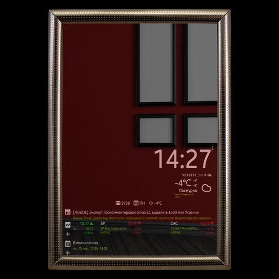 Smart mirror - умное зеркало в прихожей