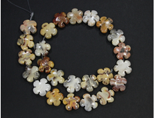 """Бусина Агат """"Крэйзи Лэйс"""", цветок 15*15*6 мм, Мексика (1 шт) №18934"""