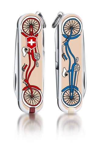 "Нож-брелок VICTORINOX Classic ""Bicycle"", 58 мм, 7 функций"