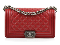 Сумка Chanel Boy Quilted Lambskin Flap Bag Red