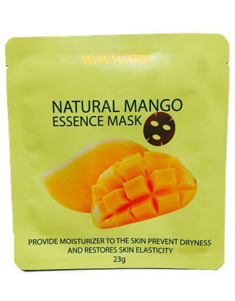 Маска для лица с экстрактом манго natural mango essence mask 23 гр