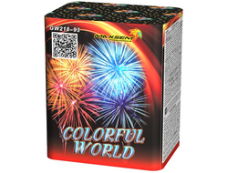 Батарея салютов COLORFULL WORLD GW218-93 MAXSEM | Neva-Salut.com