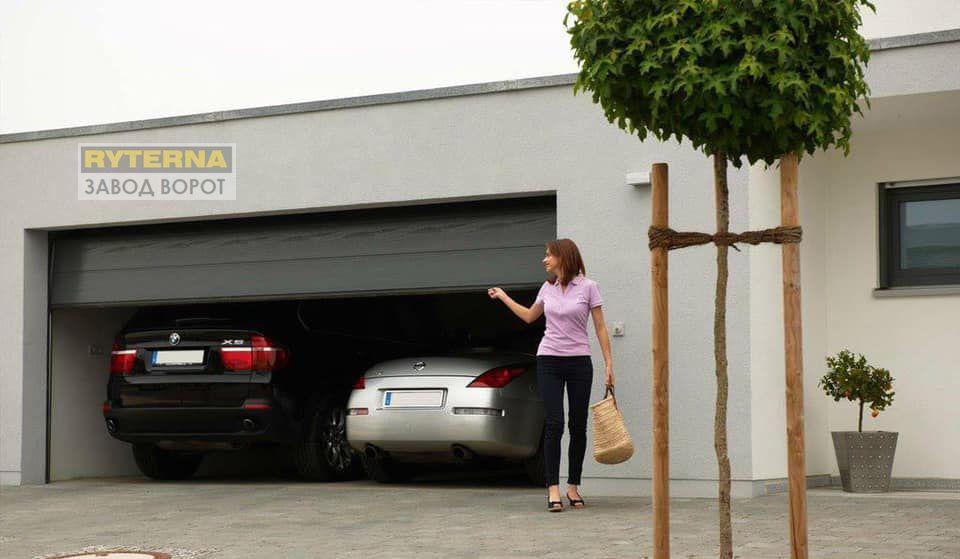 теплые гаражные ворота - СЭНДВИЧ-ПАНЕЛИ-производство - собственный цех