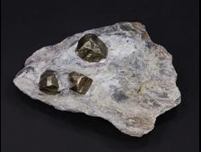 Пирит, кристаллы на породе, Россия (108*78*30 мм, 255 г) №18302