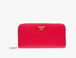Prada Triangle Wallet Red
