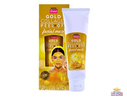 Маска-пленка для лица с золотом и коллагеном Gold Collagen Peel off Facial Mask (BANNA) 120 мл