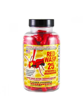 Red Wasp 25 ephedra Cloma Pharma 75 кап