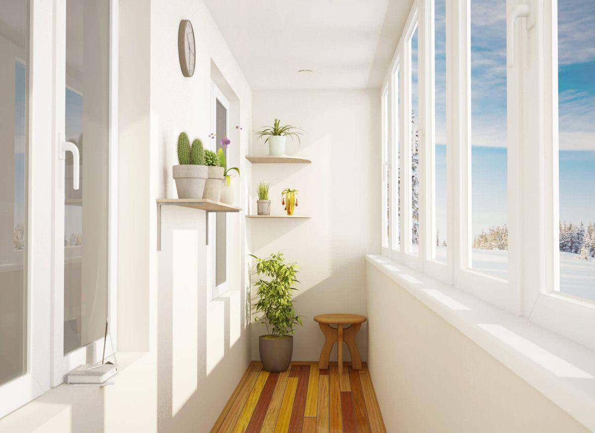 Теплое остекление балкона пвх без выноса от компании нестанд.