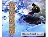 Наклейка на сноуборд Stickerbomb color