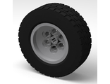 Wheel 62.4 x 20 with Short Axle Hub, with Black Tire 62.4 x 20 (86652 / 32019), Light Bluish Gray (86652c01)