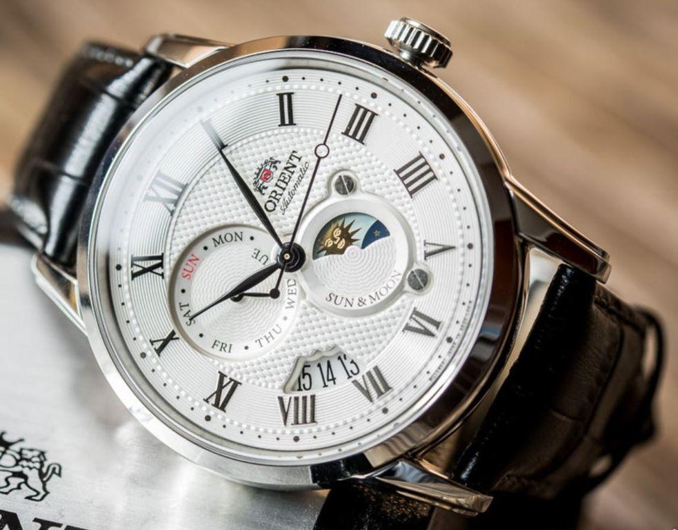 Мужские японские механические наручные часы Orient AK00002S купить в ... 23b52ad3056