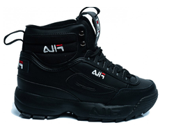 Кроссовки FILA DISRUPTOR 2 HIGH ALL BLACK с мехом