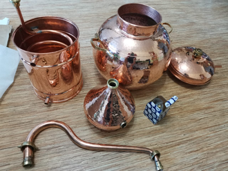 Аламбик традиционный 1л -35л - 1 литр CopperCrafts Португалия (CopperCrafts)