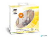 SVS Yellow H11 PGJ19-2 12v 55w 3000K