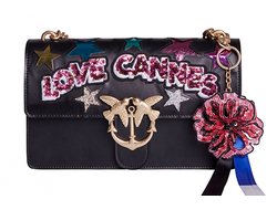PINKO LOVE CANNES LEATHER BAG