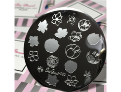STAMPING PLATE NAIL ART #82