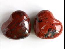 Сердце Яшма брекчиевая в ассортименте (39*34*20 мм, 39 г) №6017