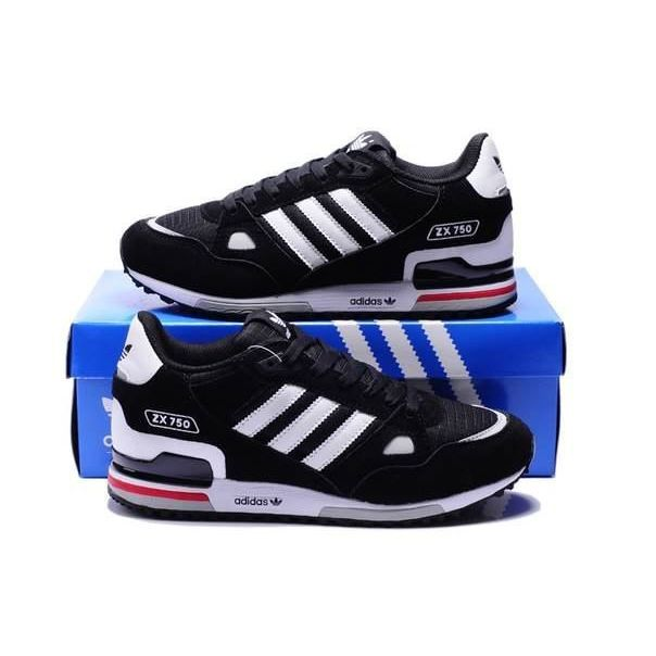 cf57b7f3 Купить кроссовки ADIDAS ZX 750 черные в наличии в интернет-магазине ...
